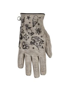 CREAM LADY GLOVES BEIGE BLACK