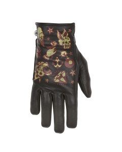 CREAM LADY GLOVES BLACK