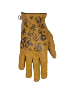 CREAM LADY GLOVES GOLD