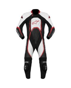 ORBITER LEATHER SUIT WHITE BLACK RED