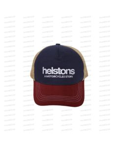 TRUCKER FILET LOGO BLEU-BORDEAUX-BEIGE